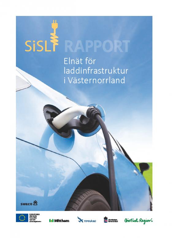 2016 Rapport Elnat Laddinfrastruktur Vasternorrland