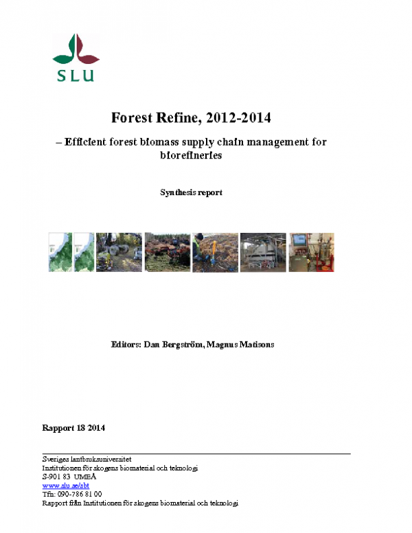 2012-14 Forest Refine Synthesis report