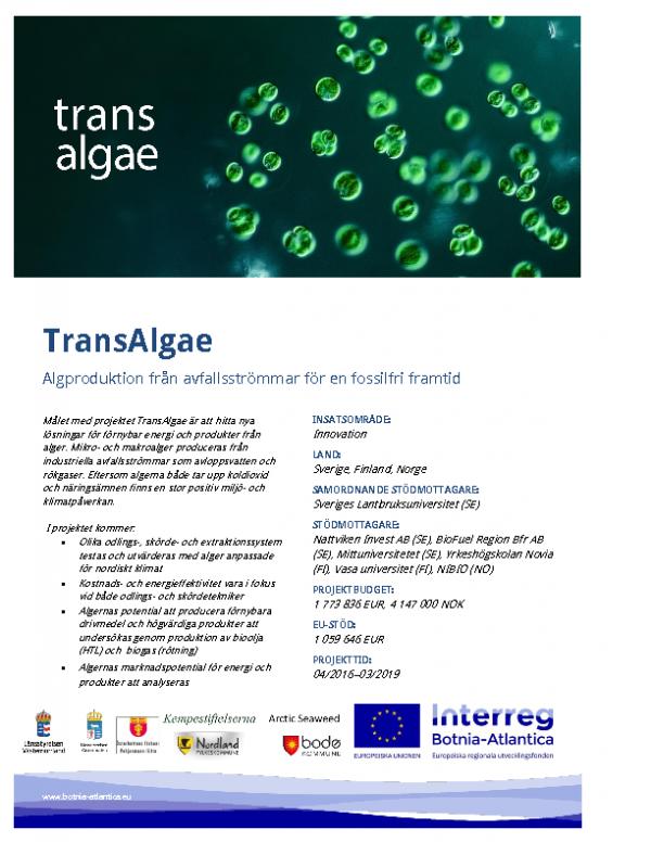 TransAlgae-affisch_sv