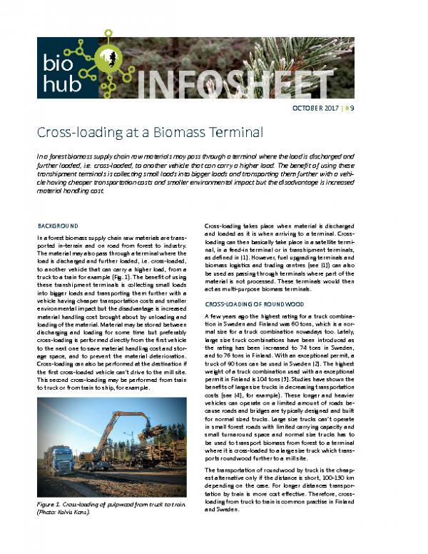 2017 No 9 Cross-loading at a biomass terminal