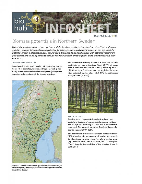 2017 No 11 Biomass potentials in Northern Sweden
