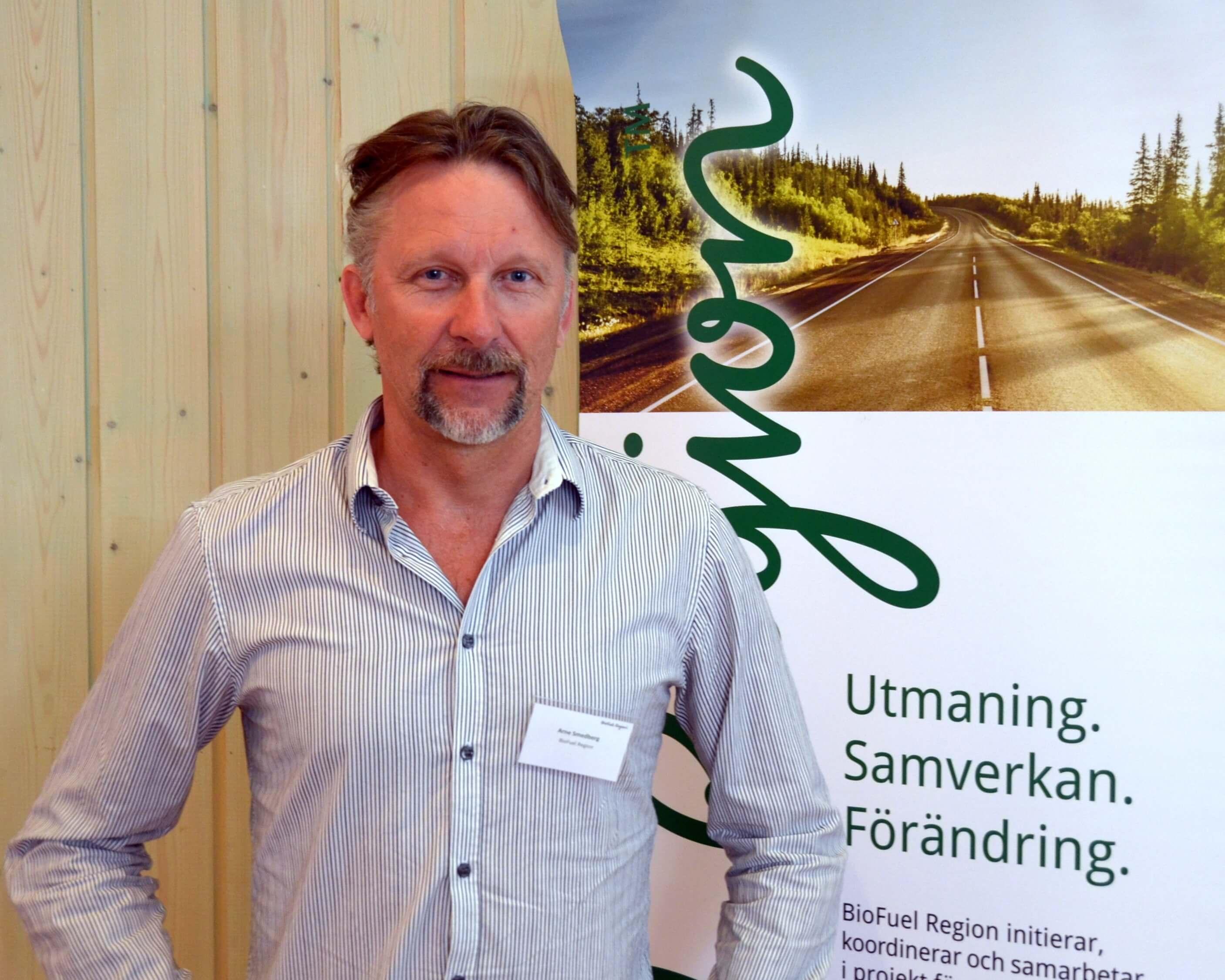 Arne Smedberg, vd, BioFuel Region levererade glasklara underlag till stämmorna
