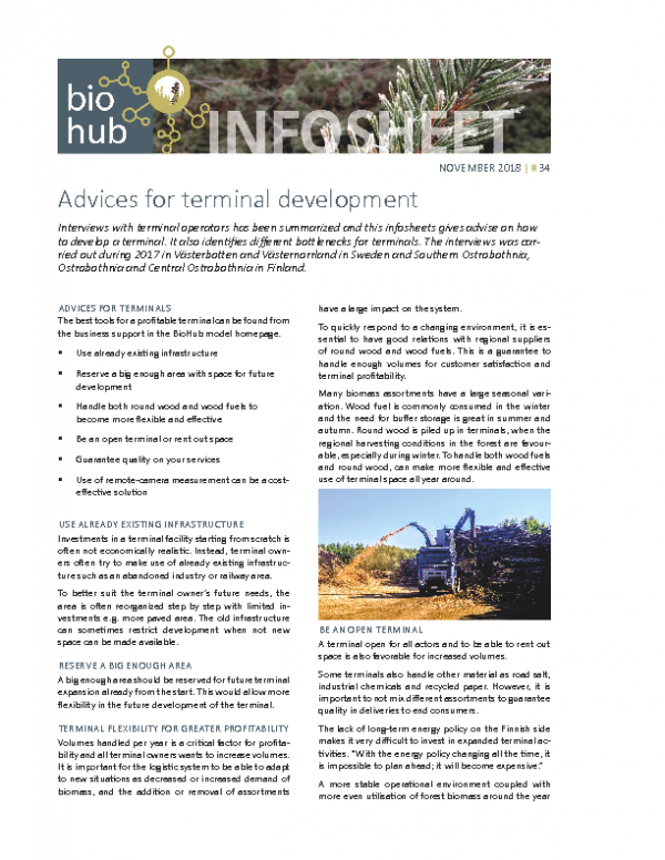 Infosheet No 34 Advices for terminal development