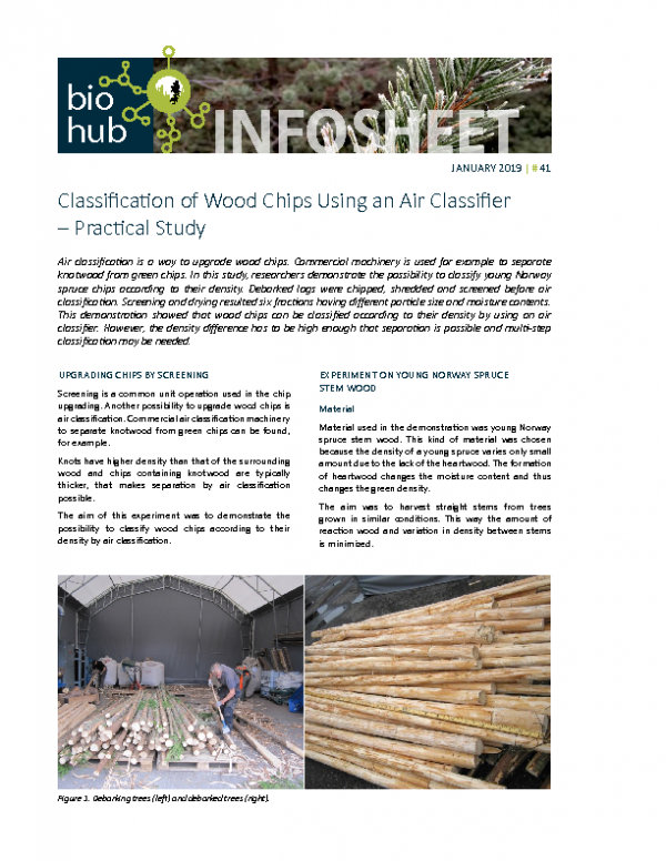 2019 No 41 Classification of Wood Chips using an Air Classifier – Practical study