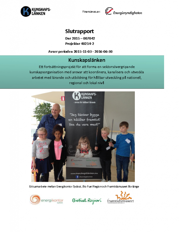 2016 SLUTRAPPORT Kunskapslänken del 2