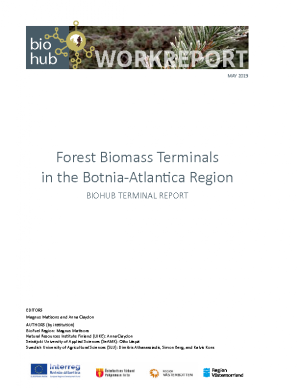 2019 Workreport Forest Biomass Terminals