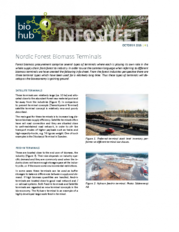 2016 No 1 Nordic Forest Teminals