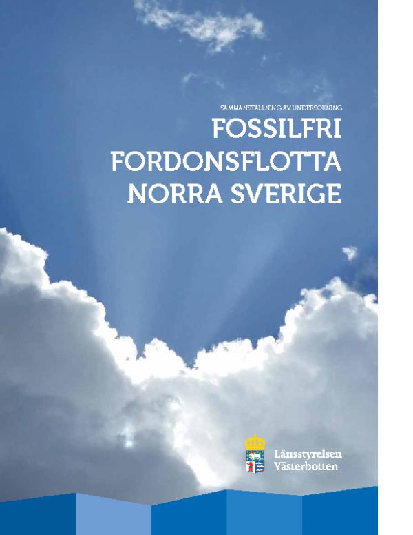 2017 Fossilfri Fordonsflotta Norra Sverige