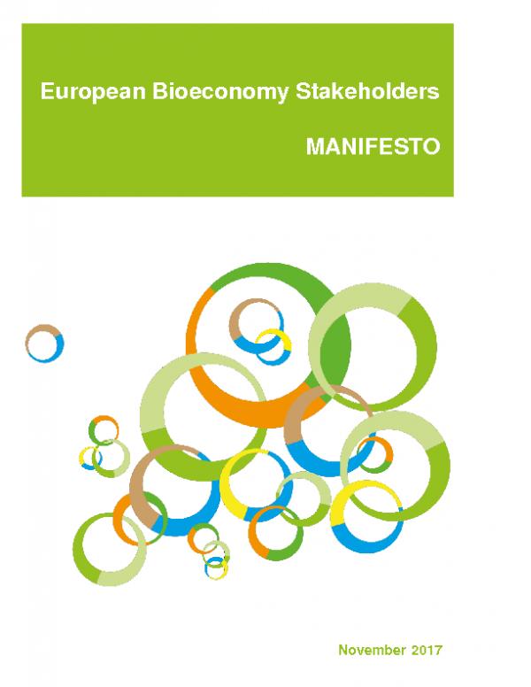 2017 European Bioeconomy Stakeholders Manifesto