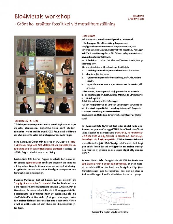 2018-02-02  Bio4Metals workshop i Holmsund
