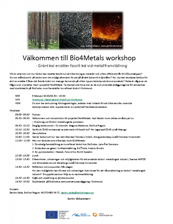 2018-02-06 Program till Bio4Metals workshop