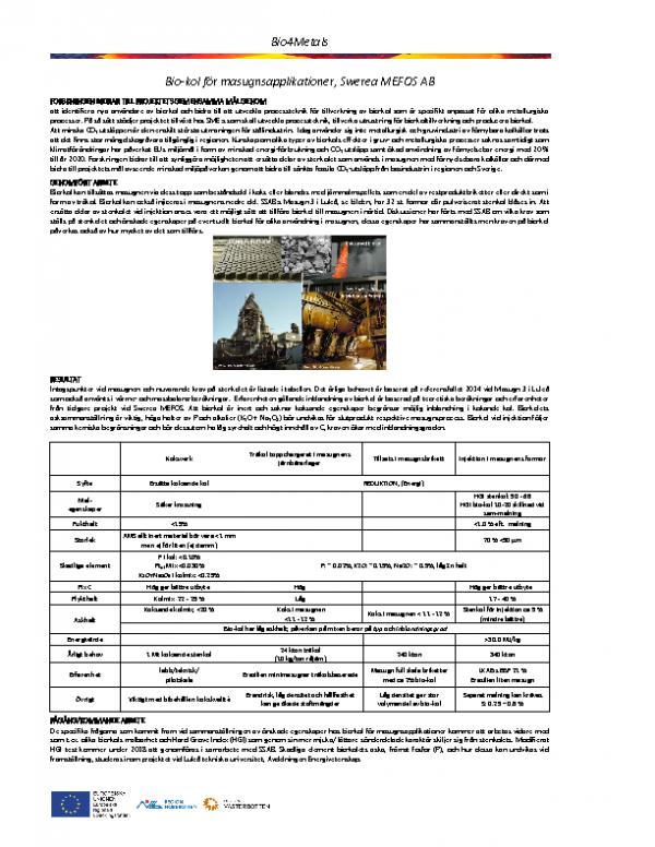 Kravspecifikation masugn 2, Swerea MEFOS