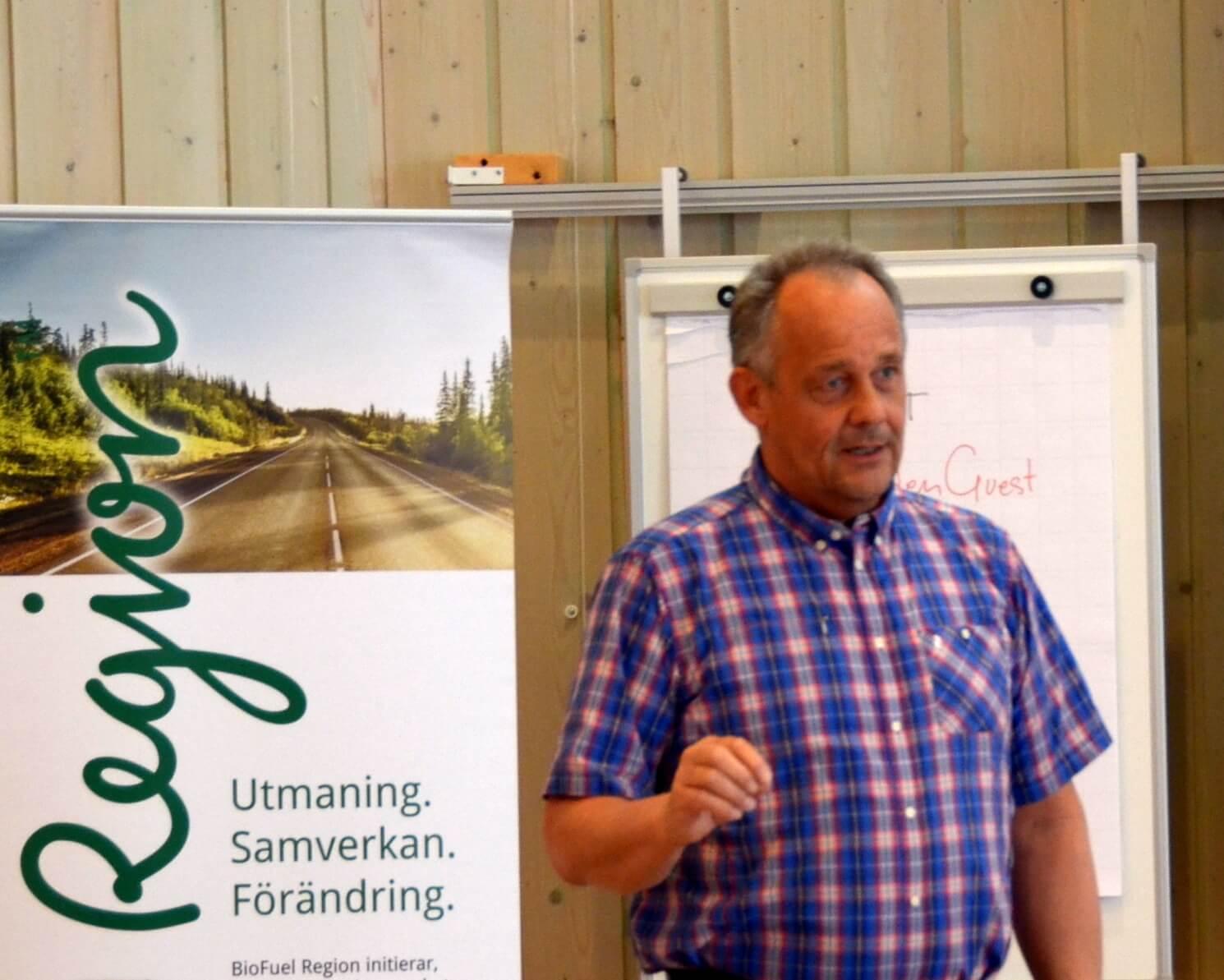 Per-Erik Jakobsson, Skelleftebränslen, gav besked om vad de nya direktiven innebär för de som ska leverera
