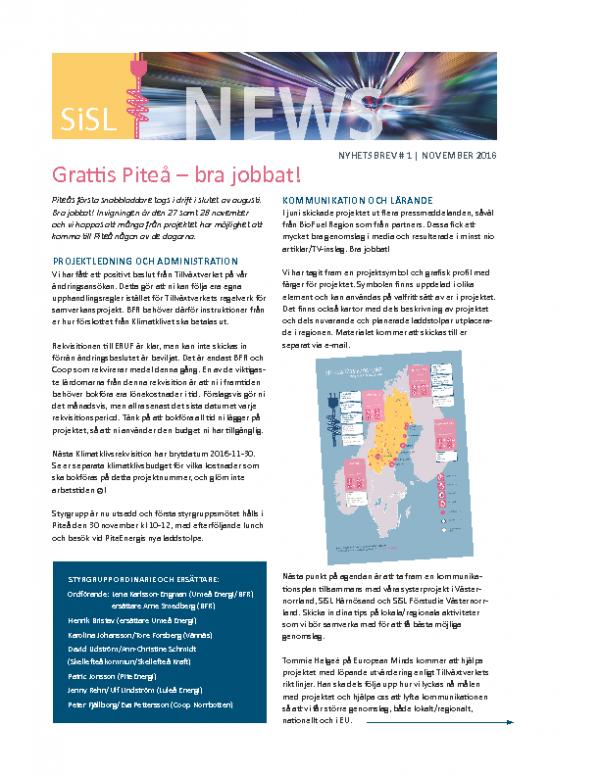 2016 SiSL Nyhetsbrev nr 1