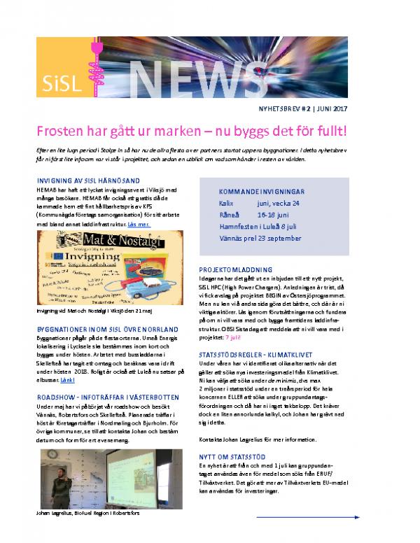 2017 SiSL Nyhetsbrev nr 2