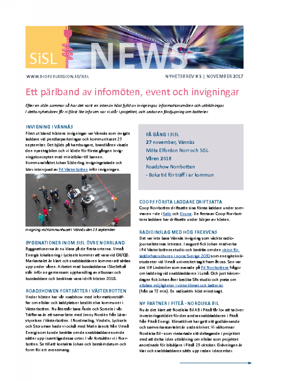 2017 SiSL Nyhetsbrev nr 3