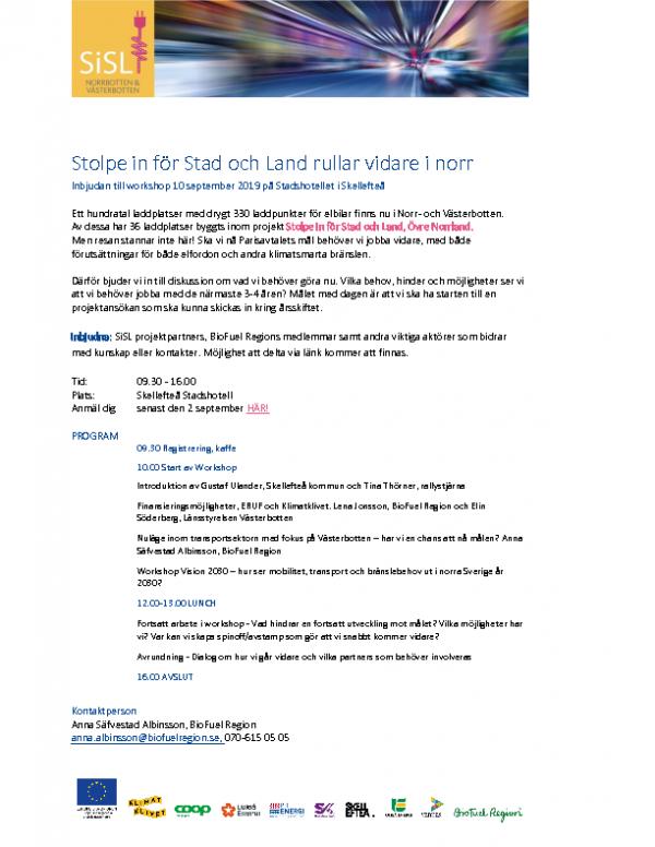 2019-09-10 Stolpe in för Stad och Land rullar vidare i norr
