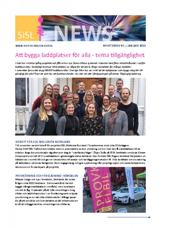 2019 SiSL Mellersta Nyhetsbrev nr 1