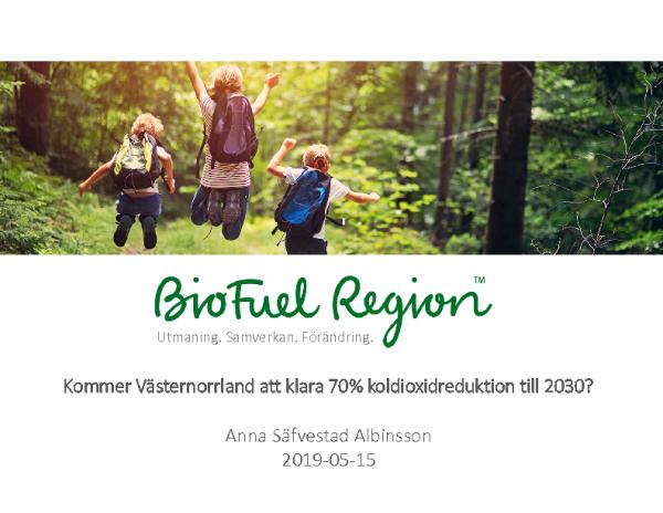 Presentation_Kommer Västernorrland att klara 70% koldioxidreduktion till 2030