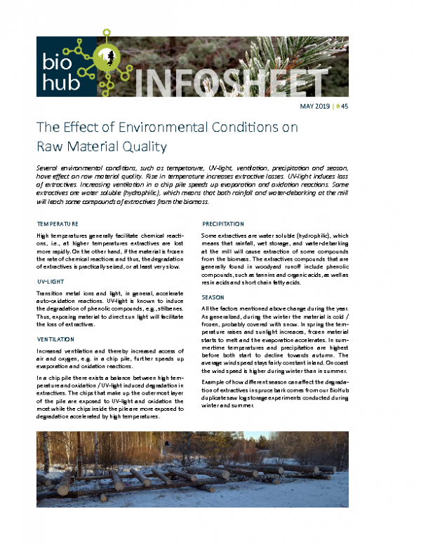 2019 No 45 The effect of environmental conditions on raw material quality