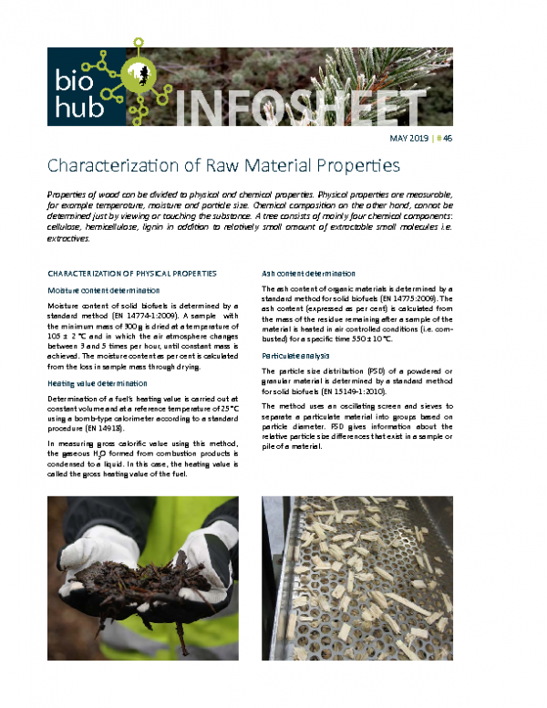 2019 No 46 Characterization of raw material properties