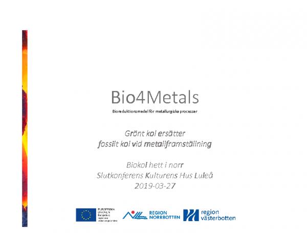 2019 Forskningspresentationer Bio4Metals