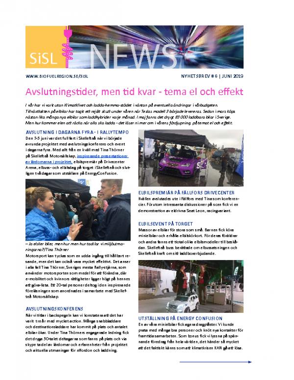 2019 SiSL Nyhetsbrev nr 6