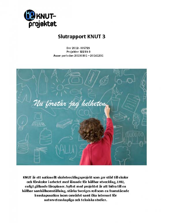 2014 KNUT 3 SLUTRAPPORT PROJEKT