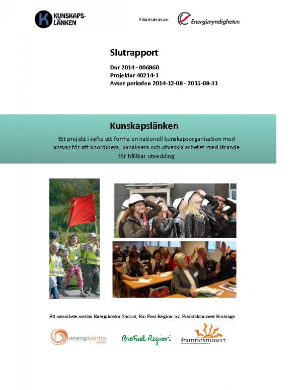 2015 SLUTRAPPORT Kunskapslänken del 1