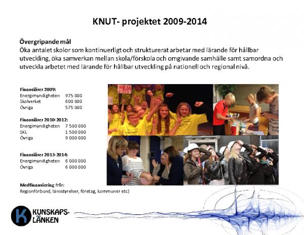 2016 RESULTAT KNUT och Kunskapslänken 2009-2016
