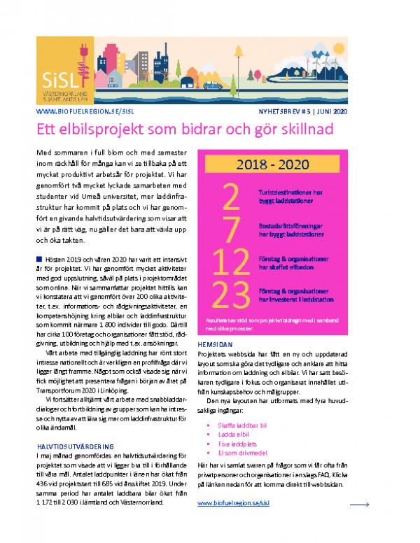 2020 SiSL Mellersta Nyhetsbrev nr 3