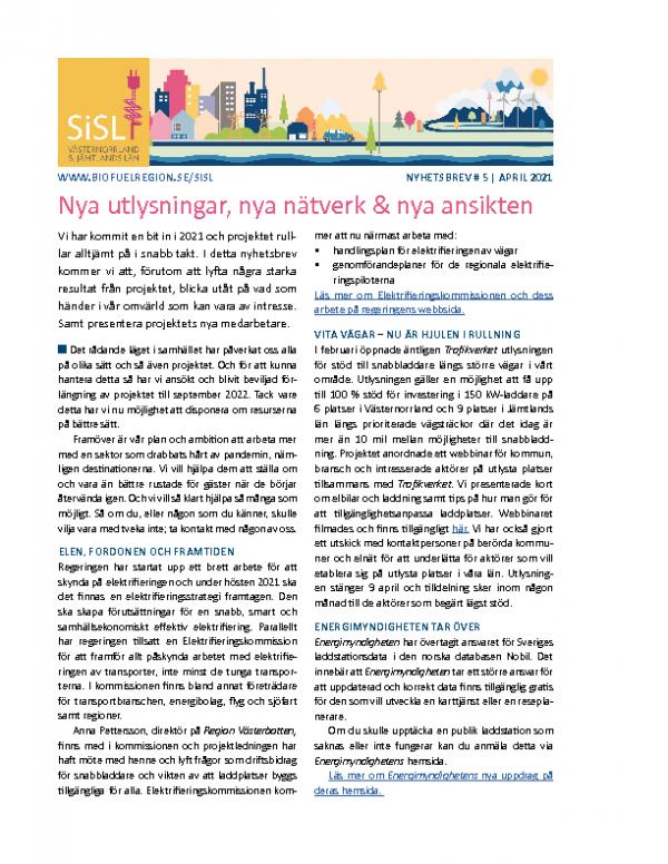 2021 SiSL Mellersta Nyhetsbrev nr 5