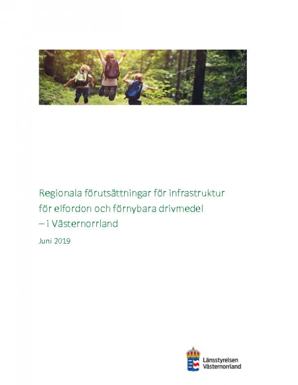 2019 Regionala förutsättningar för infrastruktur för el och förnybara drivmedel i Västernorrland