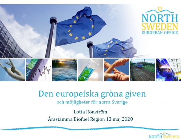 Den europeiska gröna given – Lotta Rönström