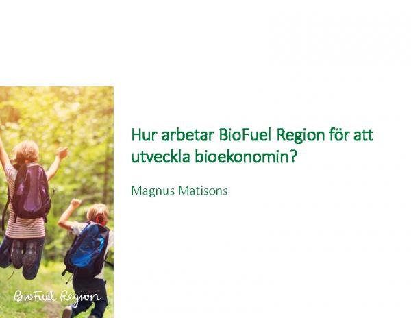 Hur arbetar BioFuel Region för att utveckla bioekonomin – Magnus Matisons