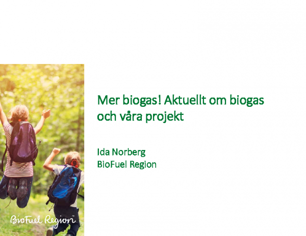 Mer biogas! Aktuellt om biogas och våra projekt – Ida Norberg