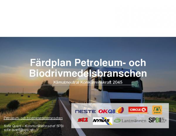 Petroleumbranschens färdplan för hur Sverige ska bli fossilfritt – Sofie Quant
