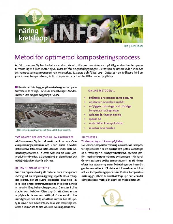 2021 Infoblad 2 Metod för optimerad komposteringsprocess