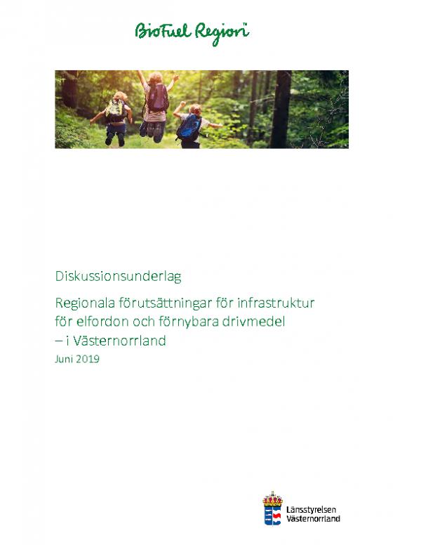 2019 Diskussion_Infrastruktur för elfordon och förnybart_Västernorrland