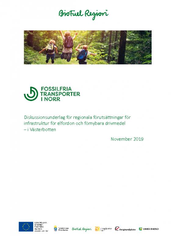 Diskussionsunderlag – Förnybara drivmedel i Västerbotten