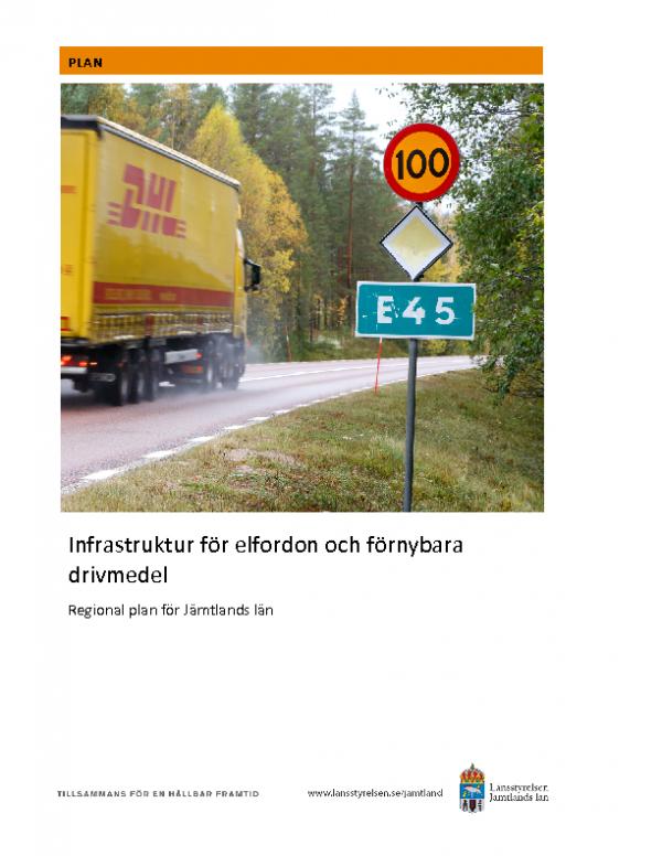 2020 Jämtland_Infrastruktur för elfordon och förnybara drivmedel