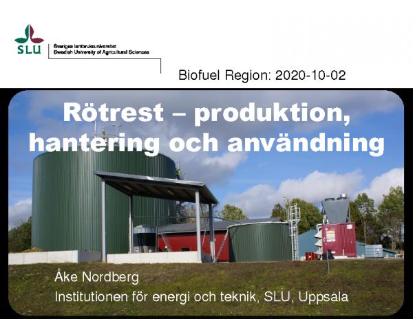Åke Nordberg SLU 2.10.2020