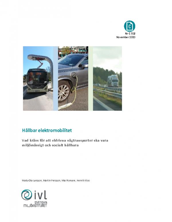 2020 Hållbar elektromobilitet_IVL
