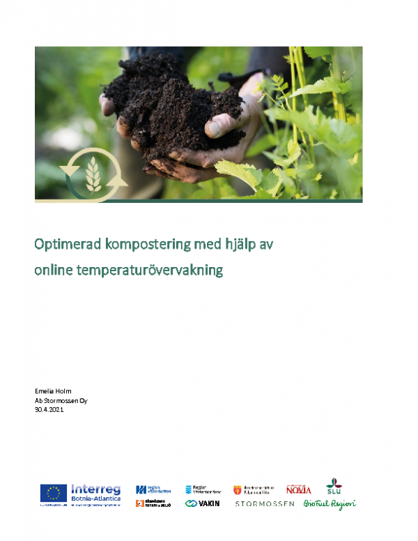 2021 Optimerad kompostering med hjälp av online temperaturövervakning